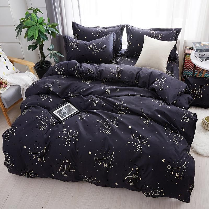 Home Textile Galaxy Star Bed Linen Constellation Duvet Cover