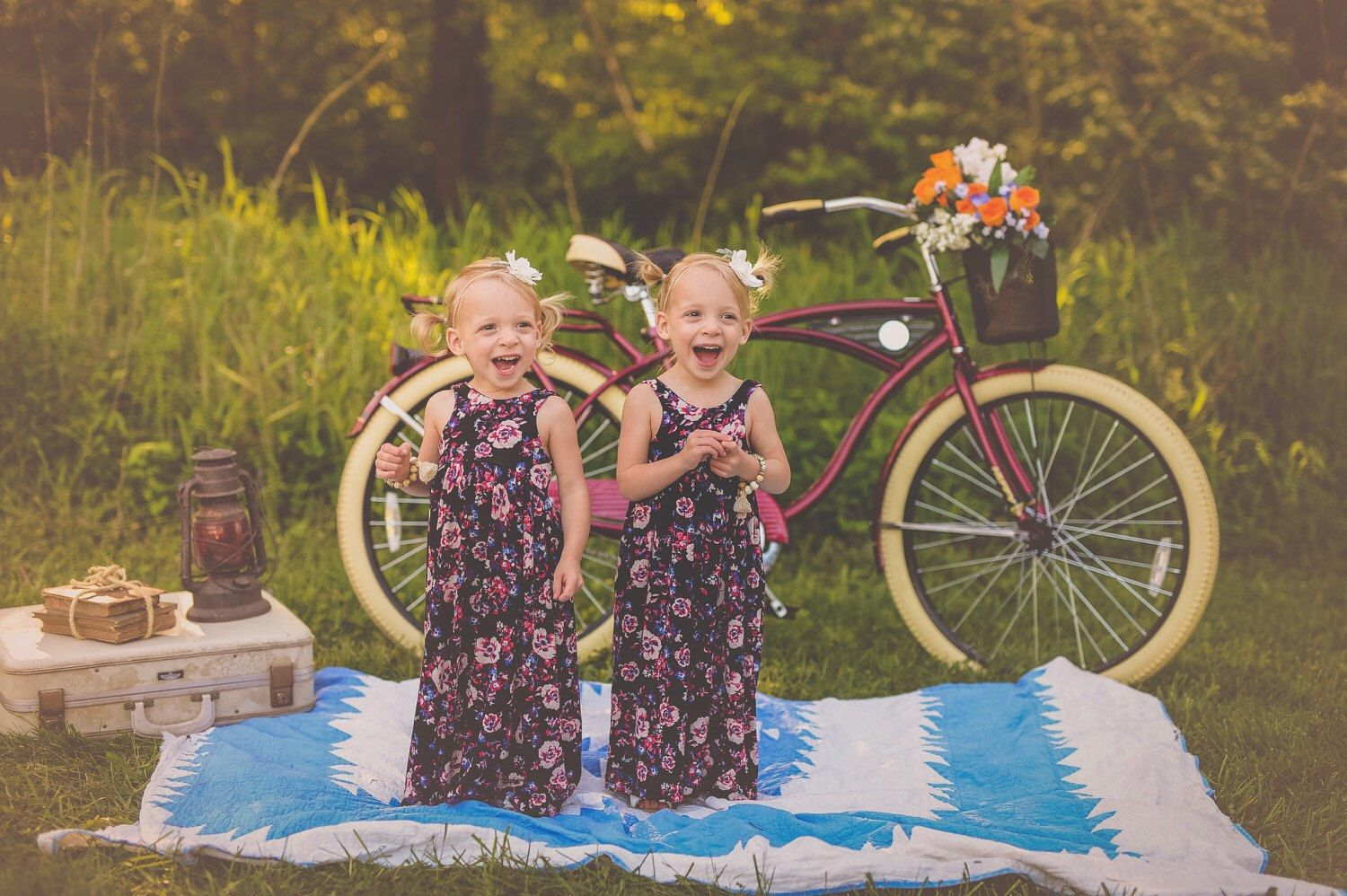 Toddler maxi dresses in floral print kids summer styles girls maxi