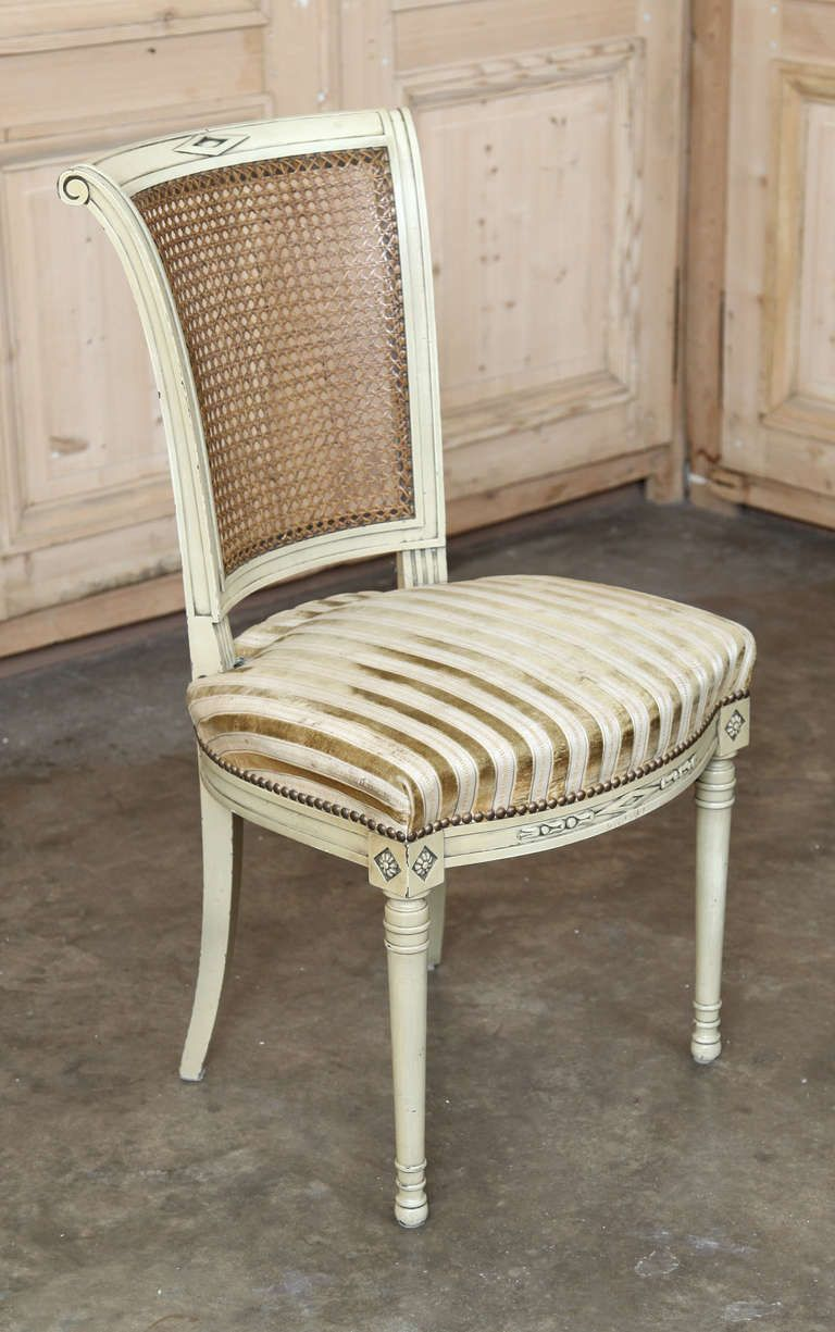 Awe Inspiring Set Of 6 Vintage Directoire Painted Chairs Furniture Redo Pabps2019 Chair Design Images Pabps2019Com