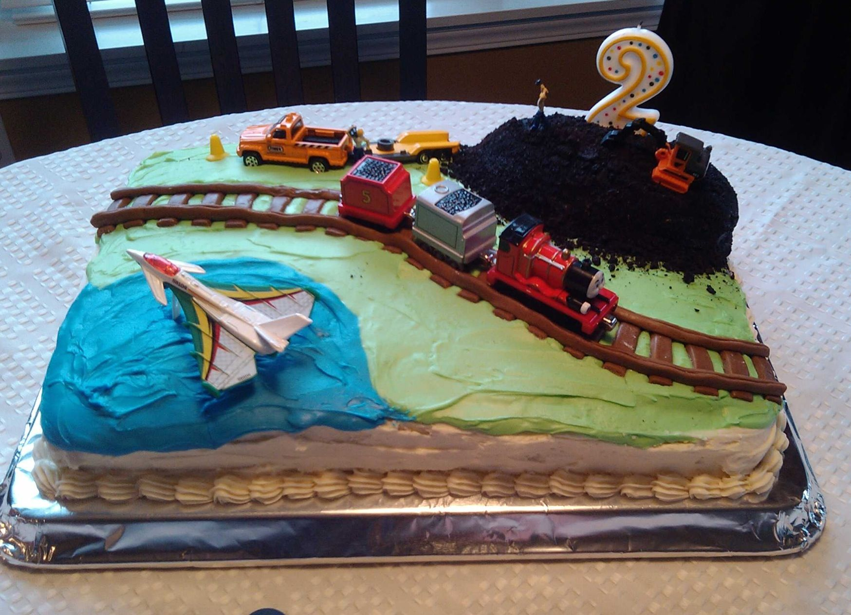 Planes Trains Automobiles Birthday Cake