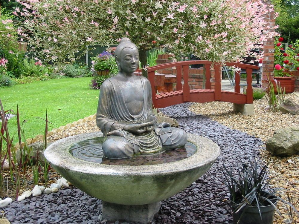 large buddha water feature fountain outdoor garden patio fountain pinterest buddha garden. Black Bedroom Furniture Sets. Home Design Ideas