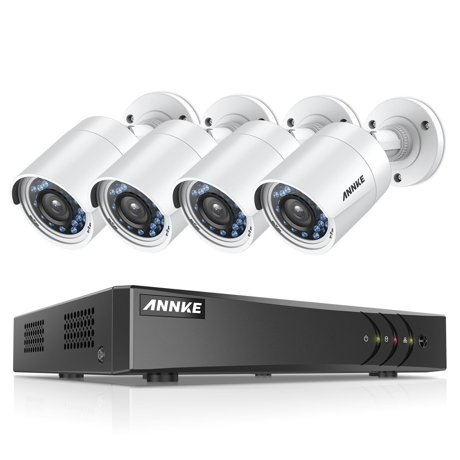 ANNKE Security Camera Systems 4CH 1080P Lite H 264 DVR and 4