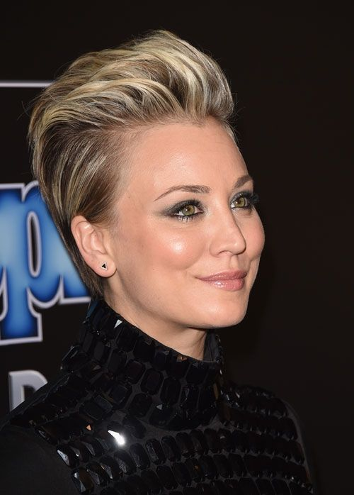 Get The Look Kaley Cuoco Sweeting S Up Swept Style By Christine