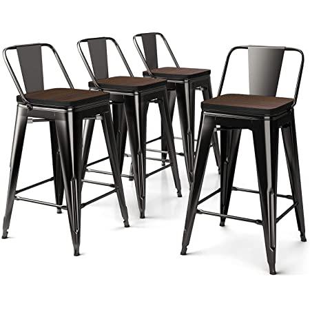 Amazonsmile 26 Inch Metal Bar Stools Counter Stool Modern Barstools Industrial Bar Stools Set Of 4 In 2021 Metal Bar Stools Side Chairs Dining Modern Counter Stools 26 inch metal bar stools