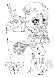 Like Starbucks Only Not Chibi Coloring Pages Cute Coloring Pages Coloring Contest