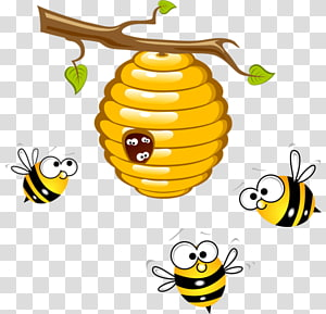 Bees Near Honey Beehive Honey Bee Hive Transparent Background Png Clipart Honey Bee Cartoon Honey Bee Drawing Bee Drawing