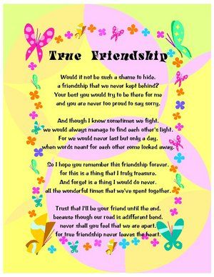 Best Friend Poems That Make You Cry And Laugh True Friendship