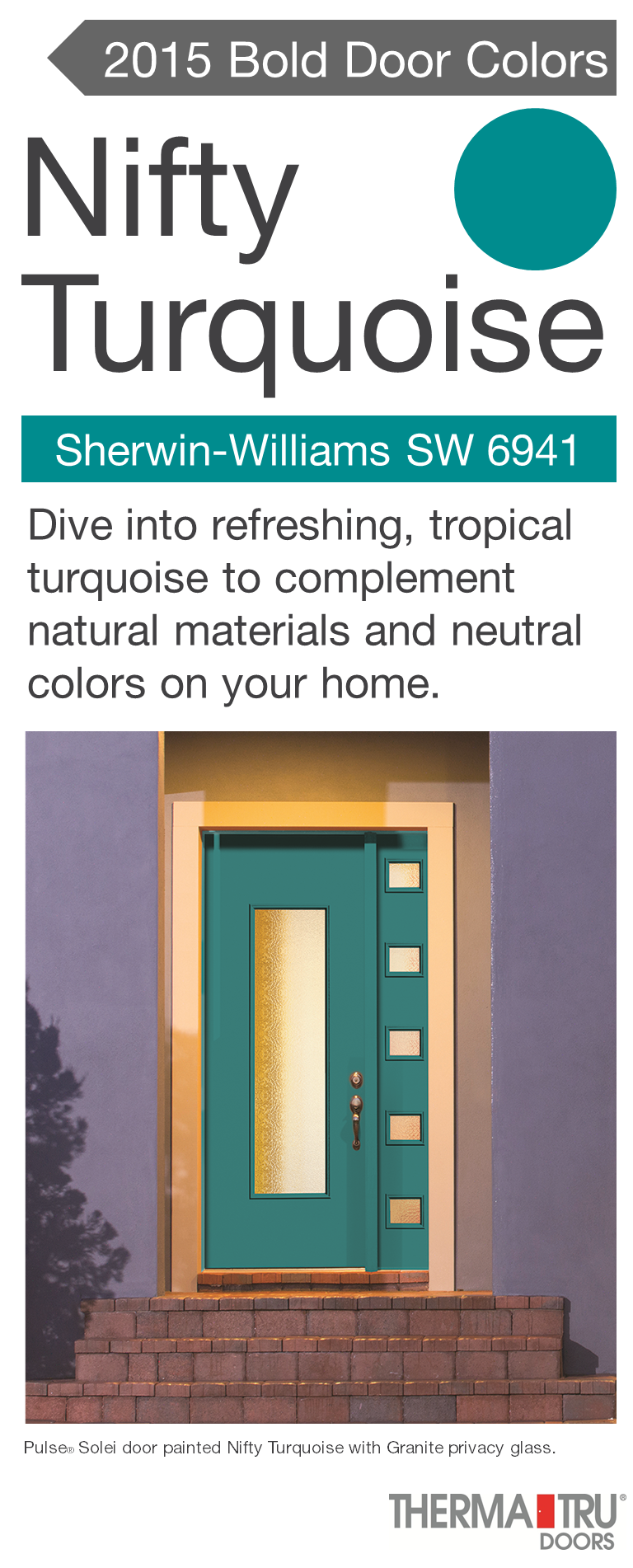 Pulse Solei fiberglass door painted Nifty Turquoise u2013 one of the hot door colors for 2015  sc 1 st  Pinterest & Pulse Solei fiberglass door painted Nifty Turquoise u2013 one of the ... pezcame.com