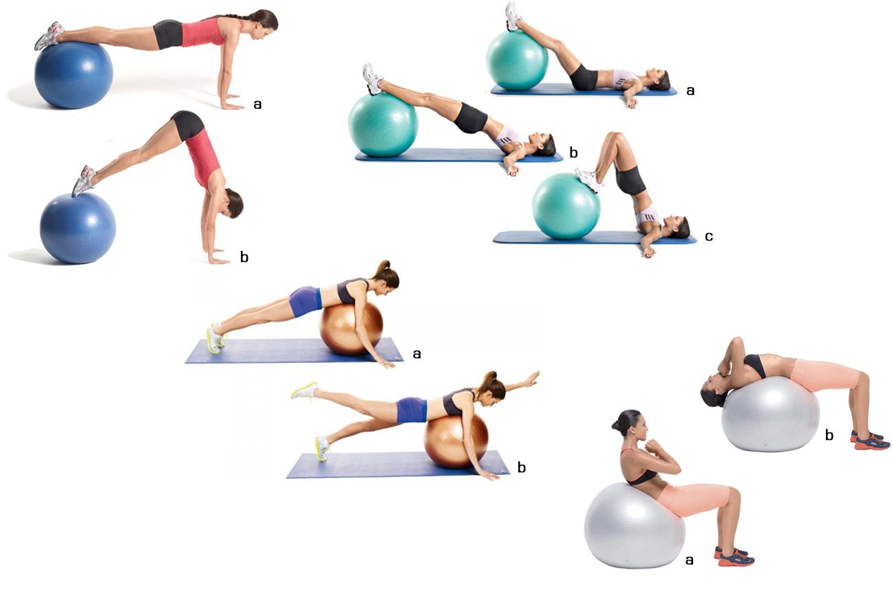 ba31cbbc23 Tonificar abdominais com a bola de pilates Pilates Exercicios