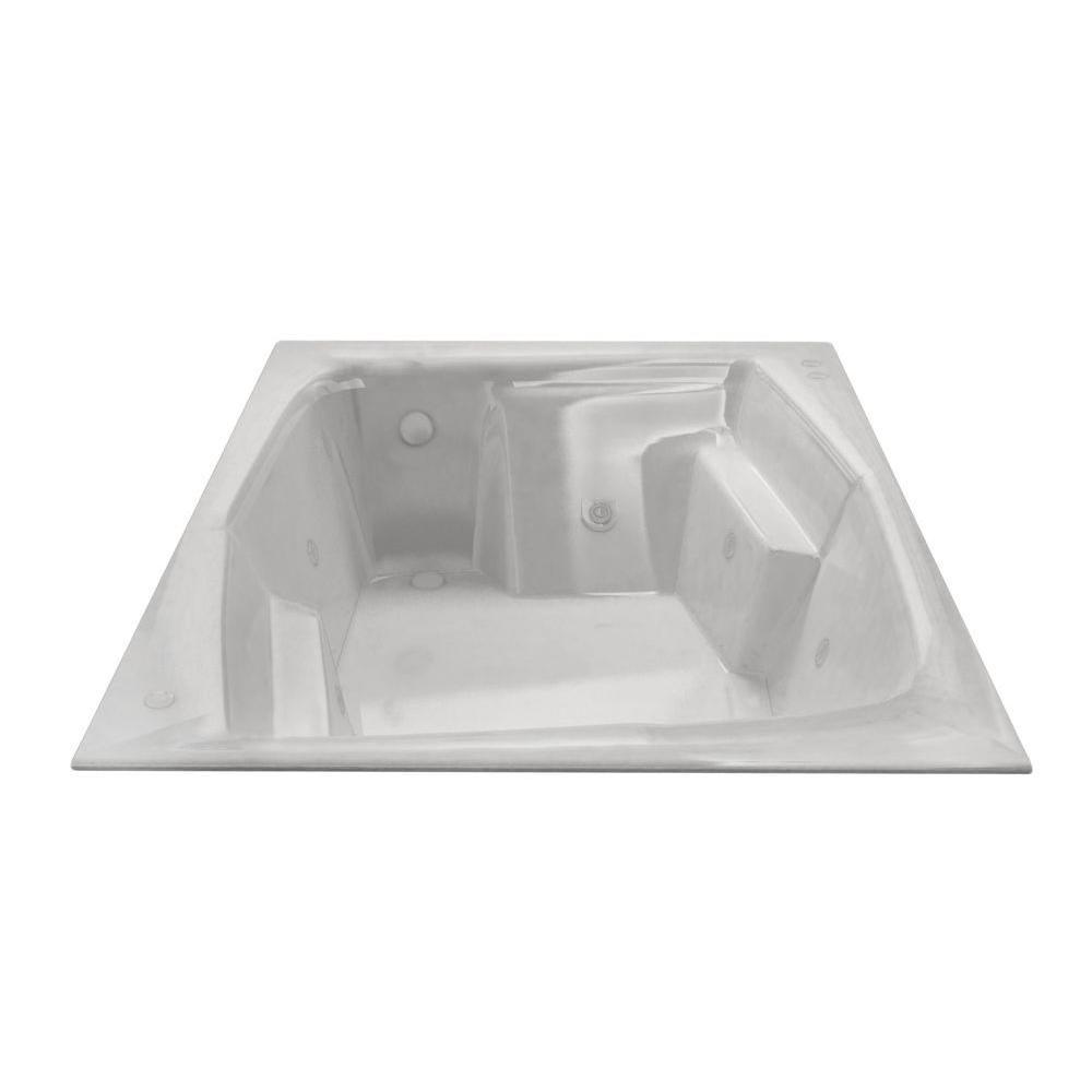 Universal Tubs Amethyst 6 ft. Acrylic Rectangular Drop-in Whirlpool ...