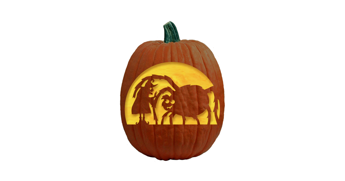 Mama's Little Baby Pumpkin Carving Pattern Pumpkin