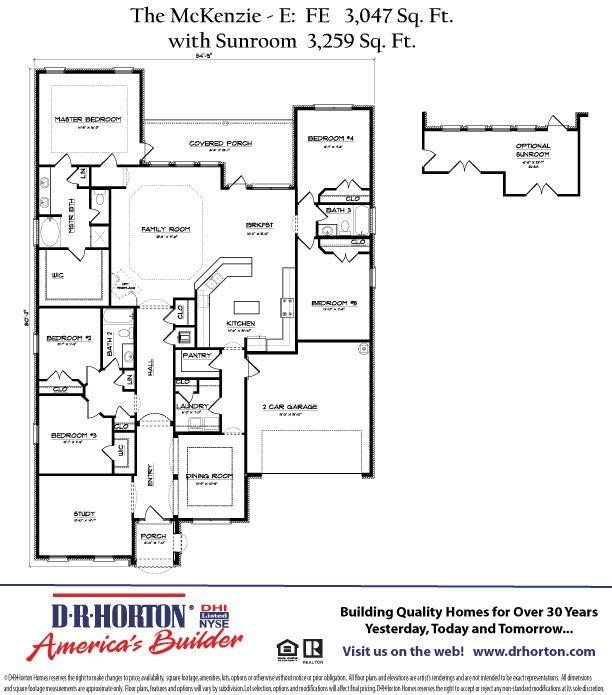 Dr Horton Mckenzie Floor Plan Google Search Floor Plans How To Plan House Floor Plans