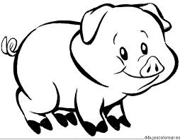 Resultado De Imagen De Dibujo Cerdito Animalitos Para Colorear Imagenes De Animales Animales Animados Para Colorear