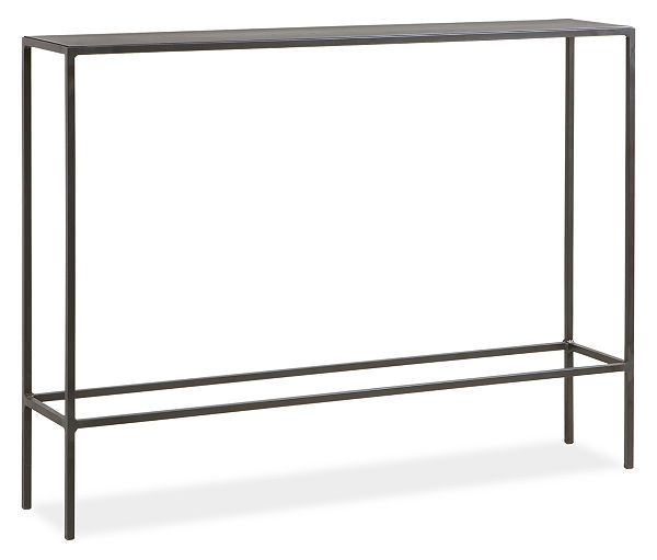 Only 36 Long Slim Modern Console Tables In Natural Steel Living Room Furniture Board