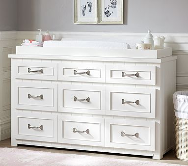 Belden Extra-Wide Dresser Changing Table Topper #pbkids | Pottery ...