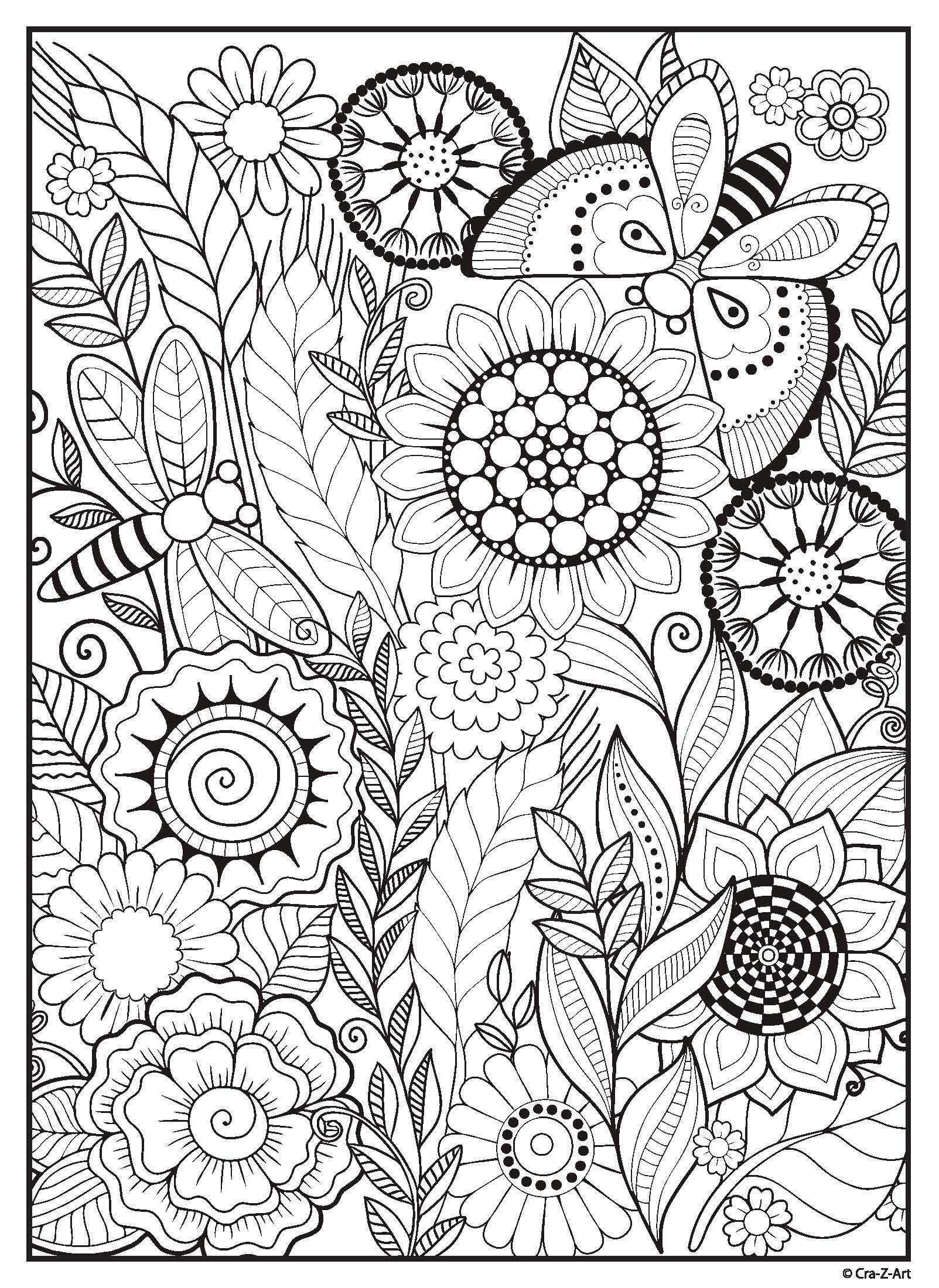 Cra Z Art Coloring Page Adventure Begins Summer Coloring Pages Mandala Coloring Pages Flower Coloring Pages
