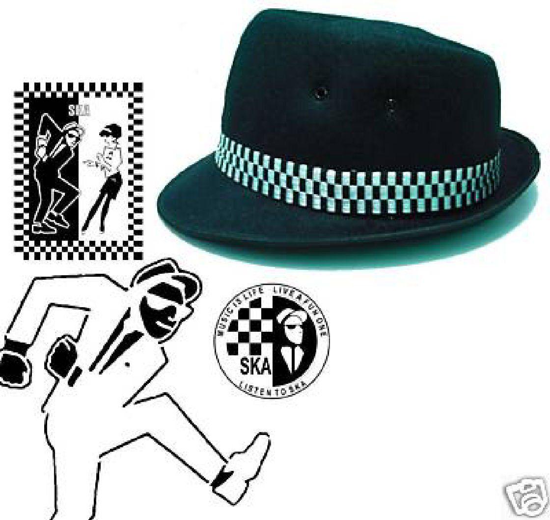 8dc432f8fd21d9 Ska Porkpie Hat (Various Sizes & Colours): Amazon.co.uk: Clothing ...