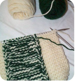 063611f14f85 Free knitting pattern slipper with a thick double sole for men or women.  Comfy beginner knitting patterns.