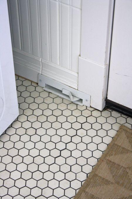 white hexagon tiles