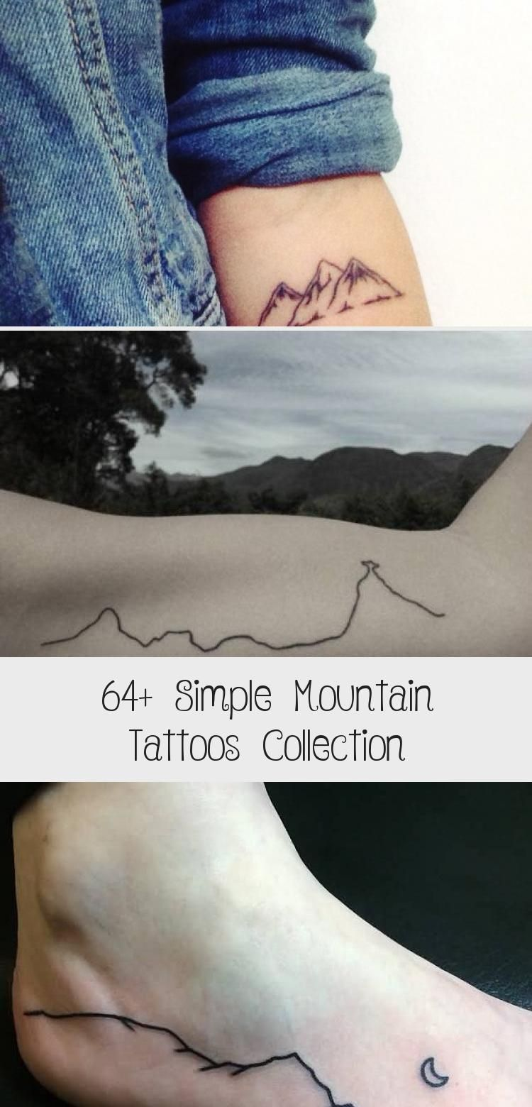 Photo of Simple Black Line Mountains Tattoo On Bicep By Jessica Channer #blacktattooBird …