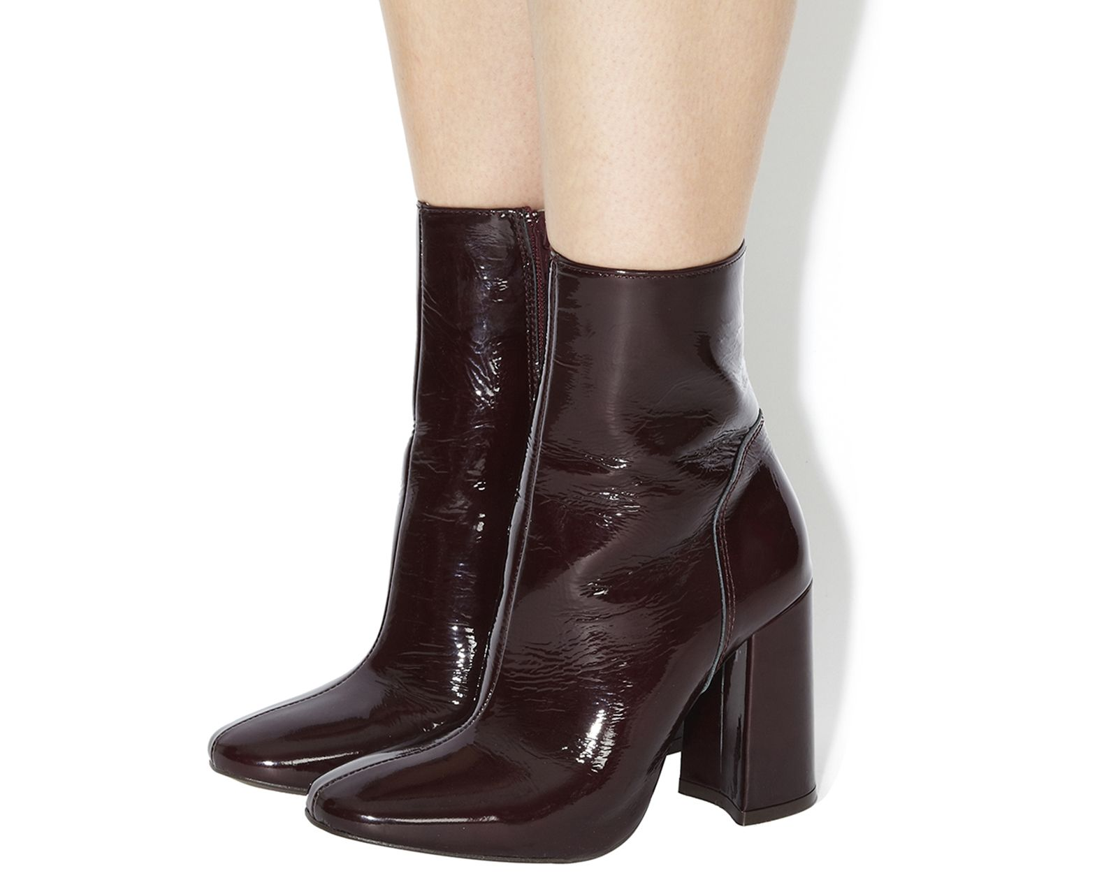 Burgundy Patent Leather Office Incense High Cut Boots From Co Uk