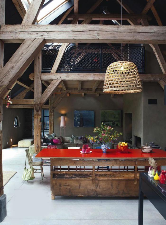 la tendance poutres apparentes 41 bons exemples. Black Bedroom Furniture Sets. Home Design Ideas