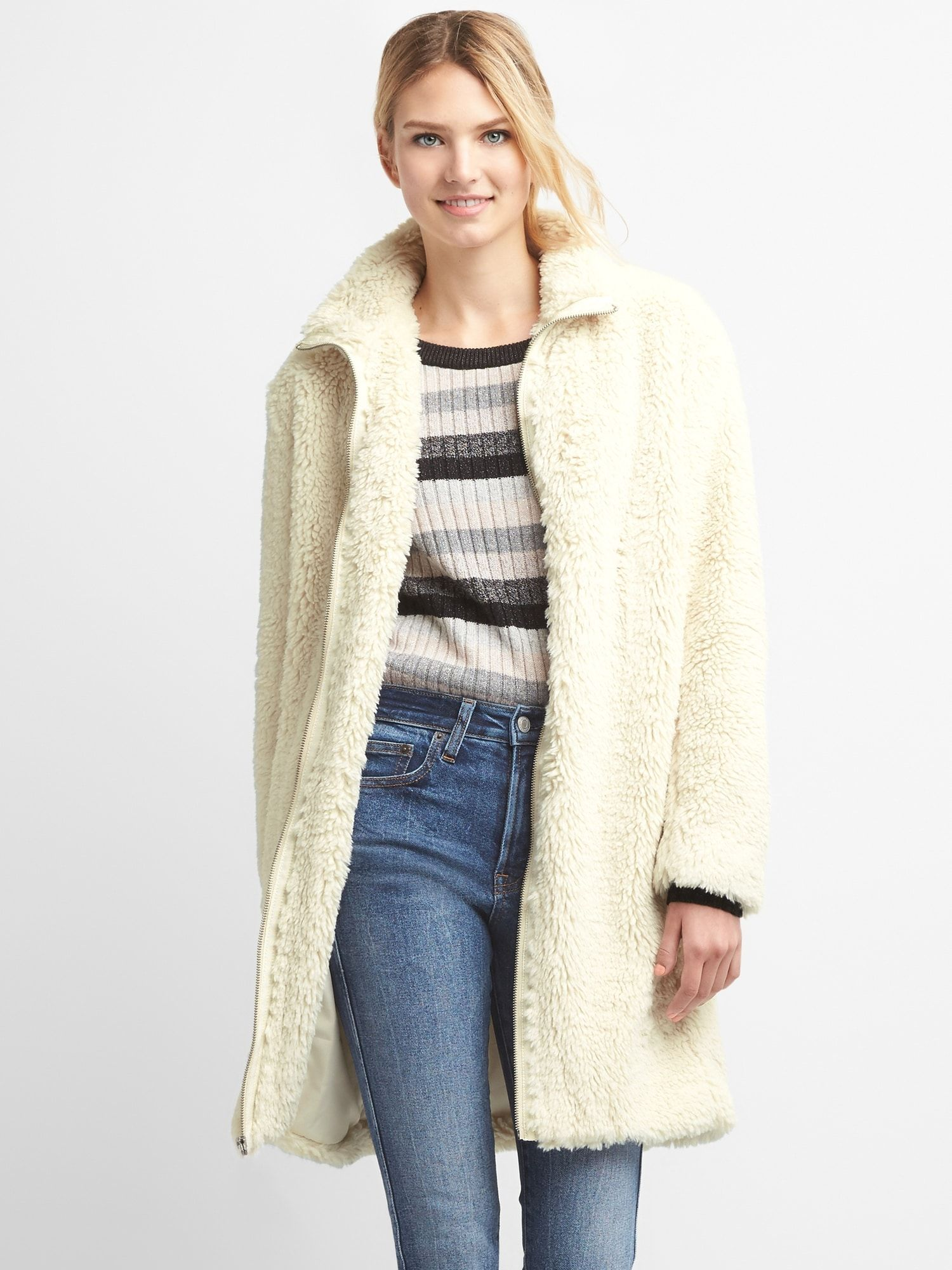 Sherpa Coat Gap 168 Style That Inspires Coat Jackets