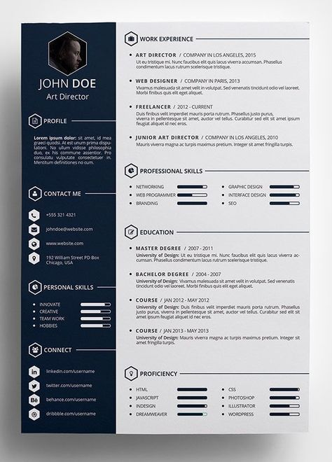 Free-Creative-Resume-Template-in-PSD-Format More More resumes