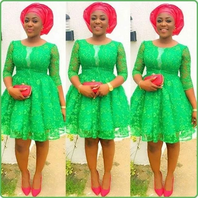 Latest Lace Short Gown Styles In Nigeria Lace Dresses African