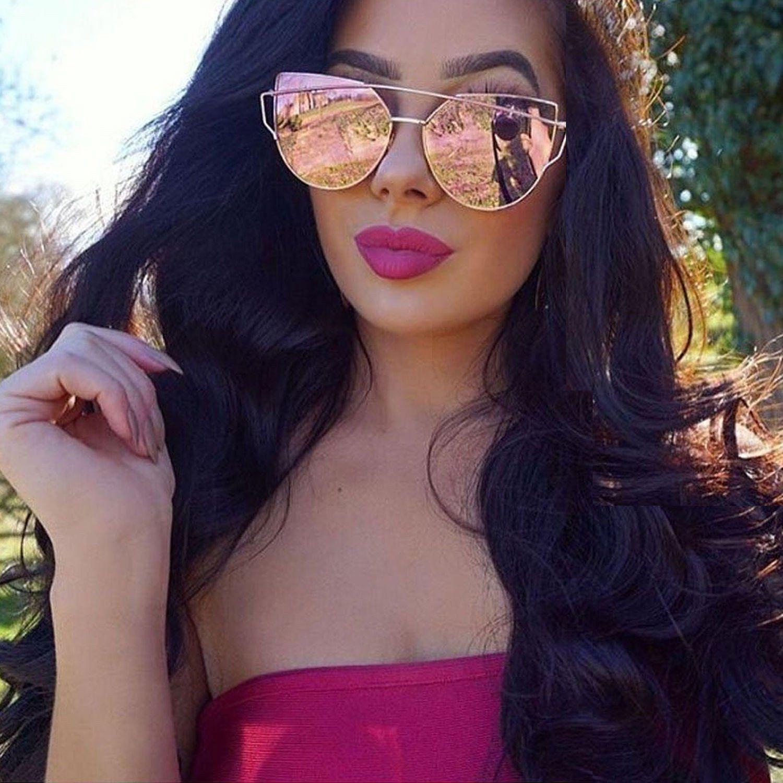 ae264e8917 Rose Gold Oversize Cat Eyed Sunglasses