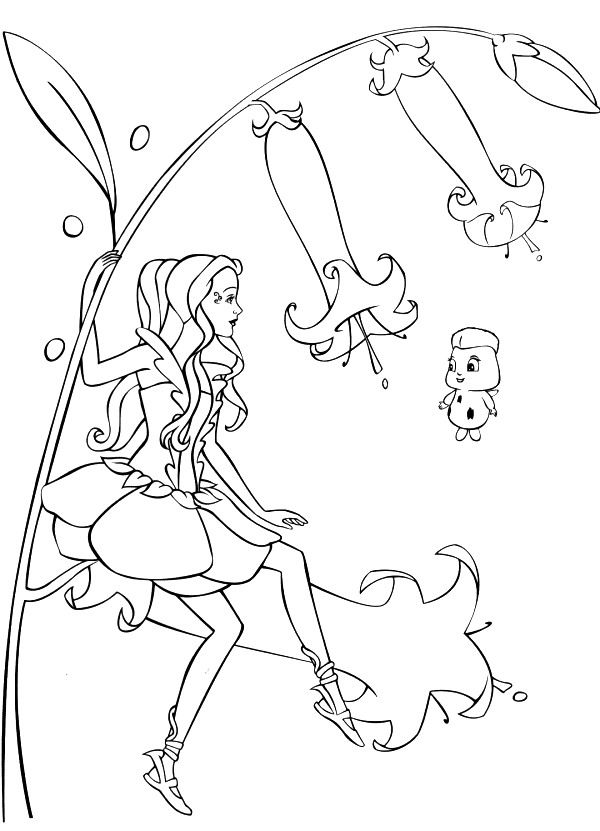 coloring page Barbie FairyTopia - Barbie FairyTopia | Crafts ...