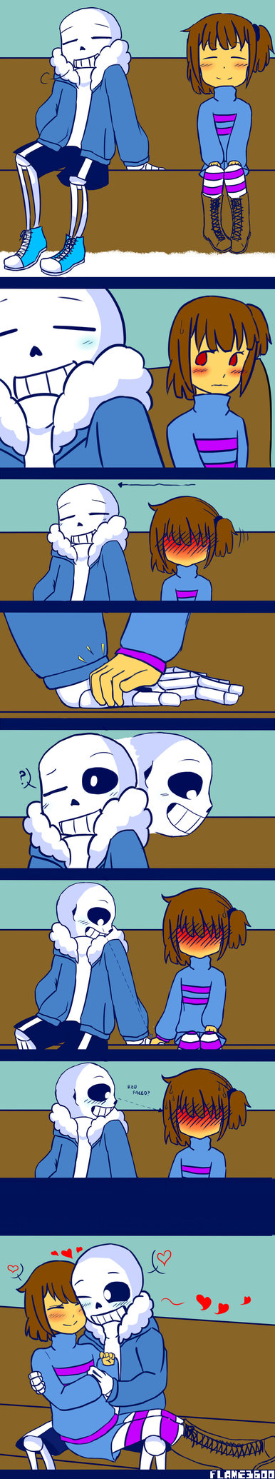 This is one of the doodles from the poll I did 2 days ago xP SwapTale!Sans: W-would you go out with me, Human!? Frisk: eh?! Oh, well ok ^^' Sans and UnderFell!Sans: What?! >:0 Poll link this is ...
