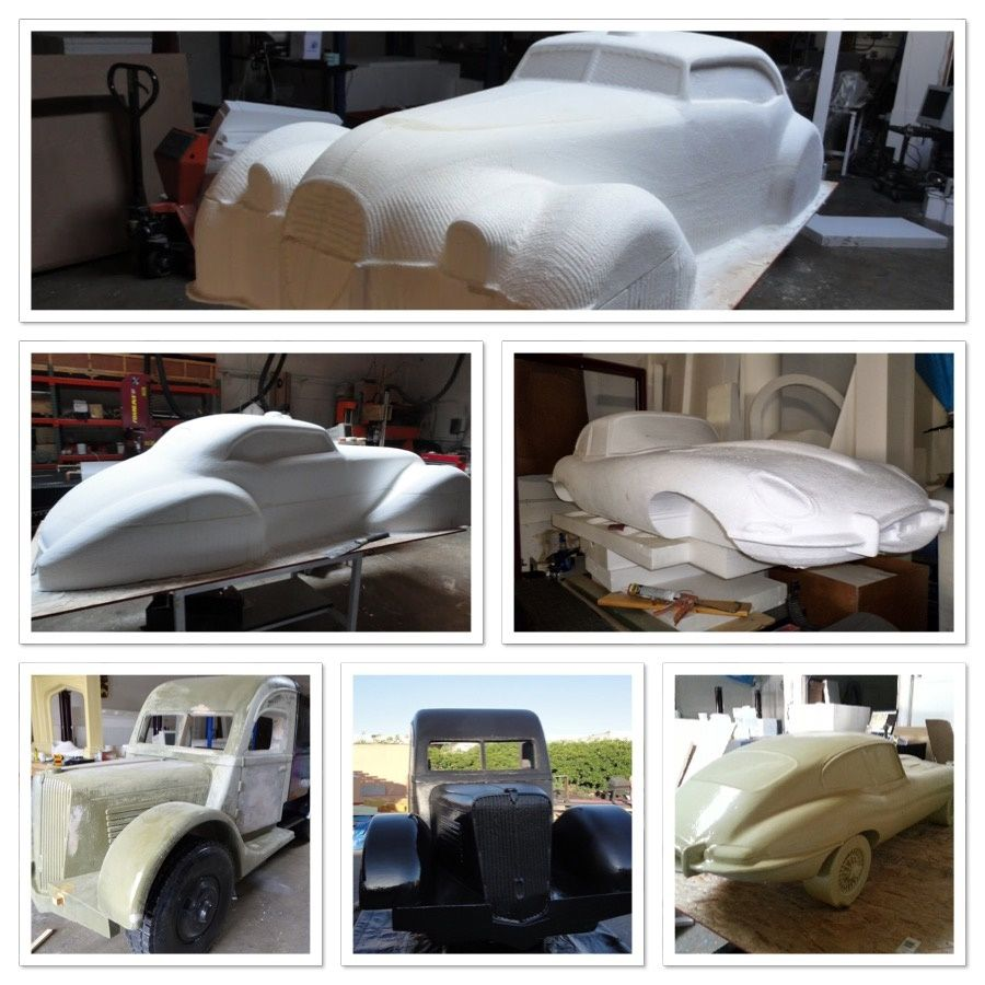 Cars All Made Of Eps Foam Coated With Polyurea And Painted By Wecutfoam Foam Props Car Seats Foam [ 900 x 900 Pixel ]