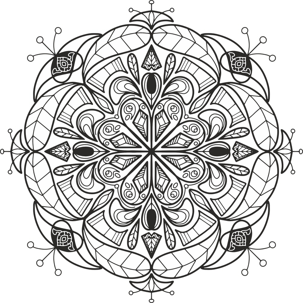 Floral Mandala Design Free Vector cdr Download 3axis.co