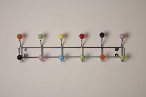 Chrome Aspect Deluxe Wall-mounted Coat Hanger-12 hooks