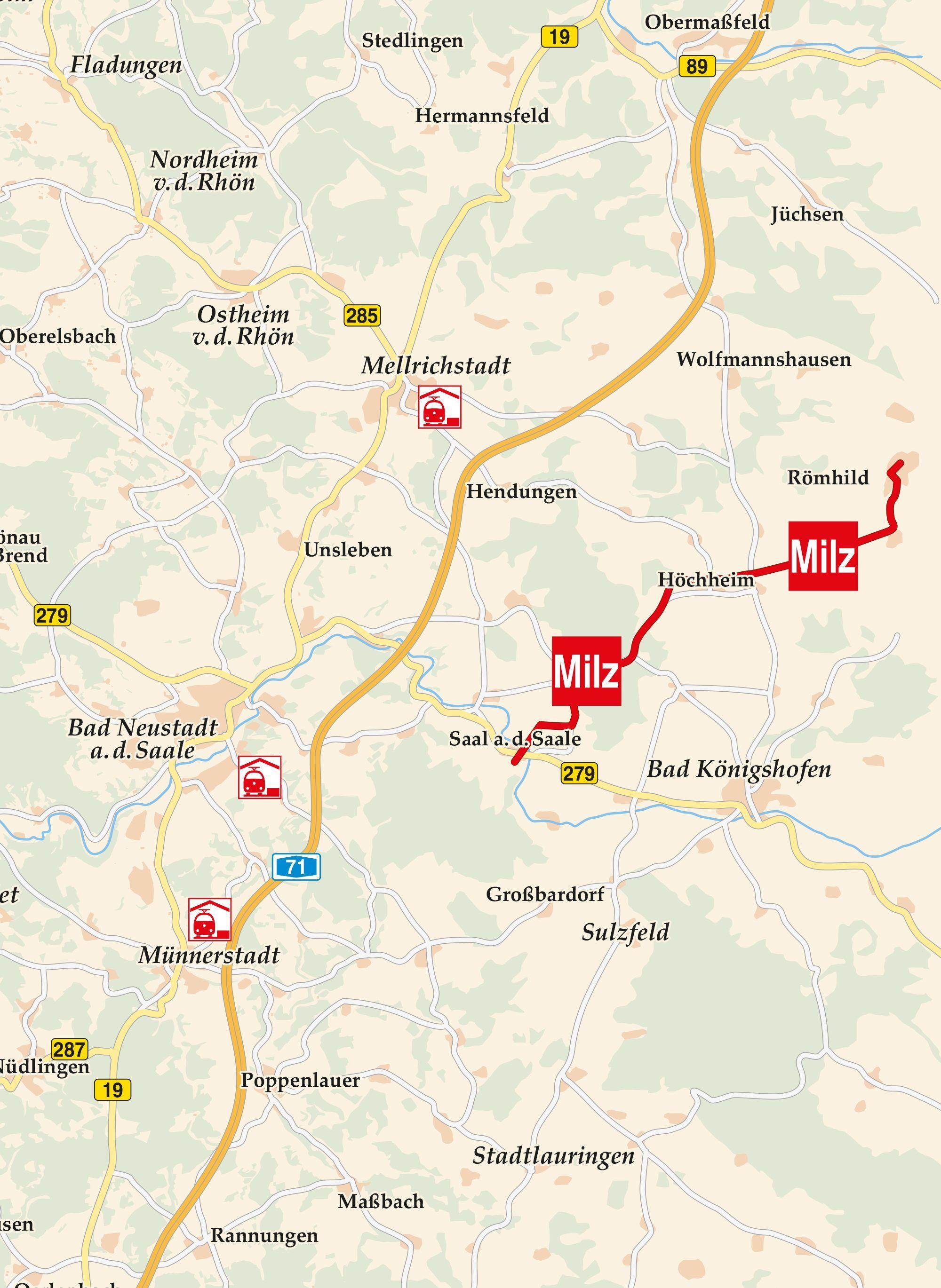 Werratal Radweg Karte.Milztal Radweg Karte Radfahren In Der Rhön Radweg Radfahren Und