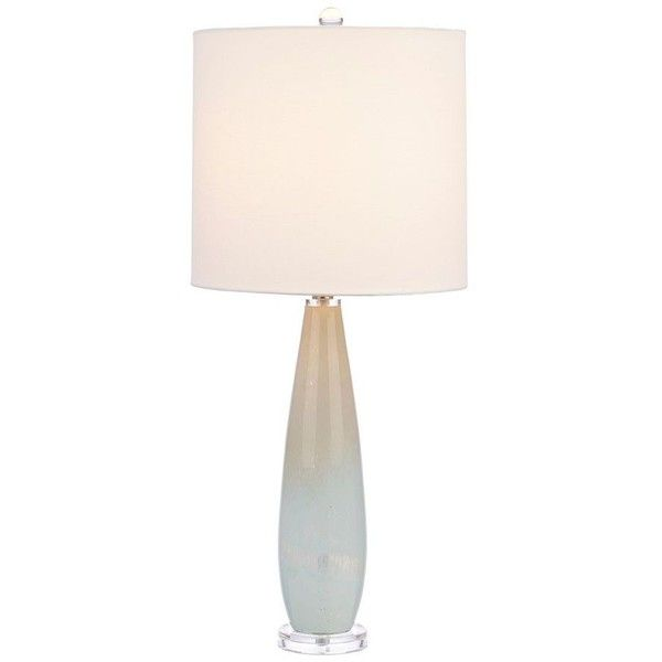 Glass Base Table Lamps Ocean Blue Art Glass Table Lamp $50 ❤ Liked On Polyvore Featuring