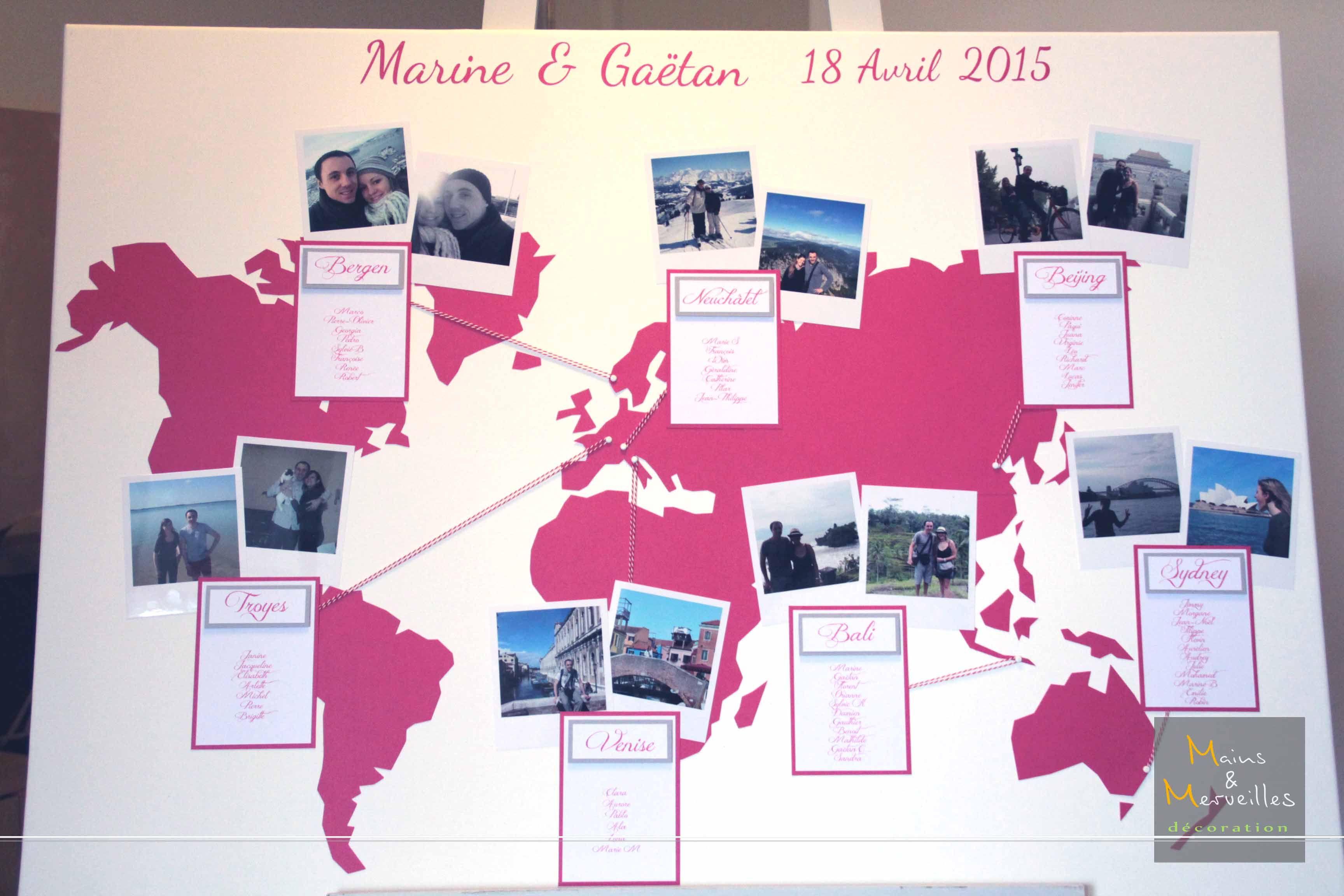 Plan De Table Mariage Map Monde Http Www Mainsetmerveillesdeco Fr Plan De Table Mariage Plan De Table Idees De Mariage