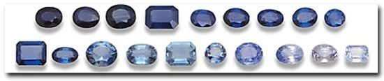 Different Colors of Sapphire