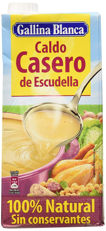 Caldo Casero De Escudella Gallina Blanca Solo 1 3 Casero Gallinas Comida