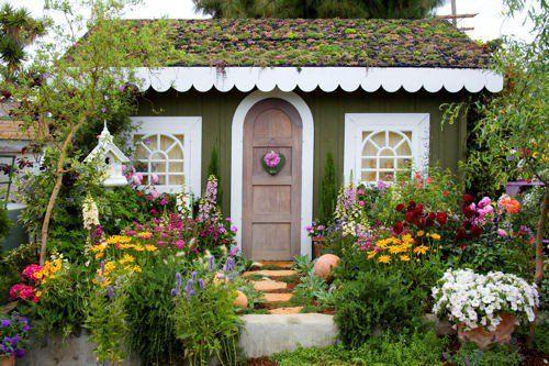 cute tiny green house