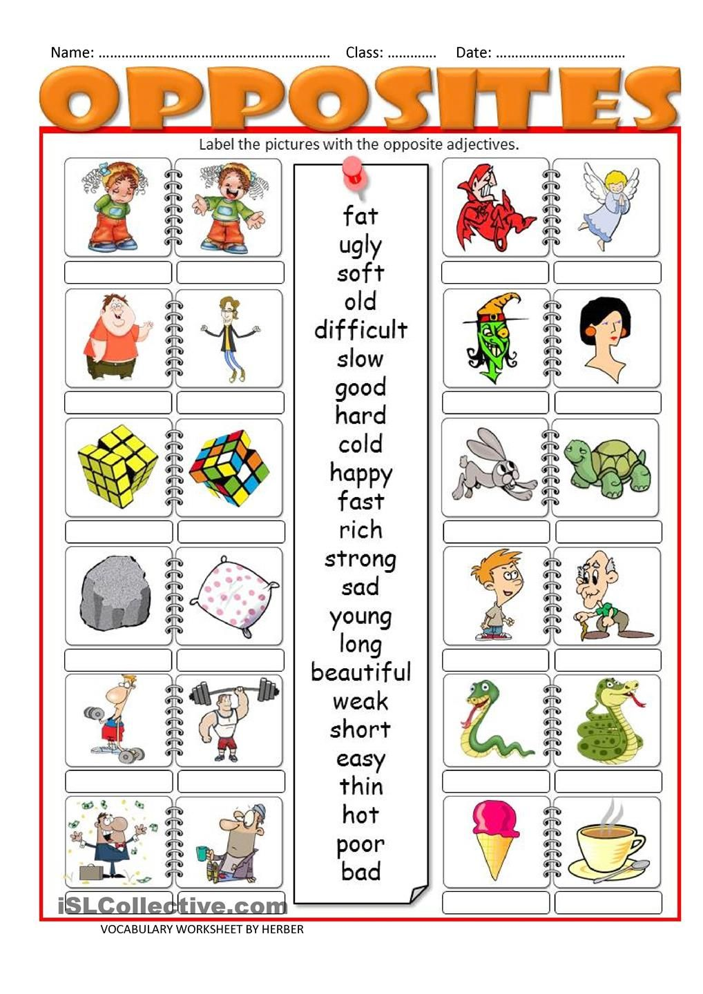 Worksheet Adjectives Printables what to wear in the snow resources preschool pinterest label pictures with opposite adjectives theres a related ppt at adjectives