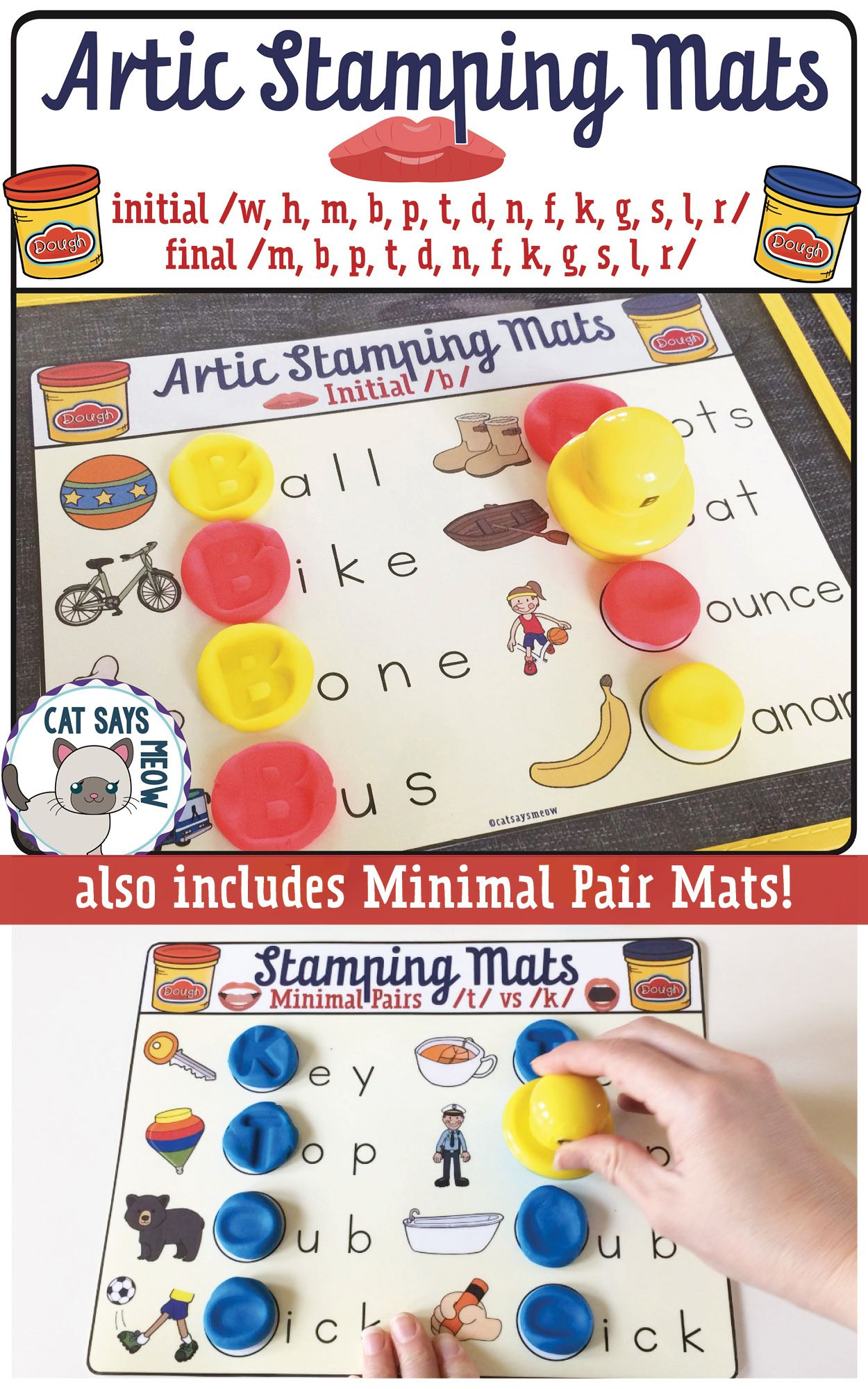 Artic Stamping Mats Letter Stamping Dough Mats Minimal