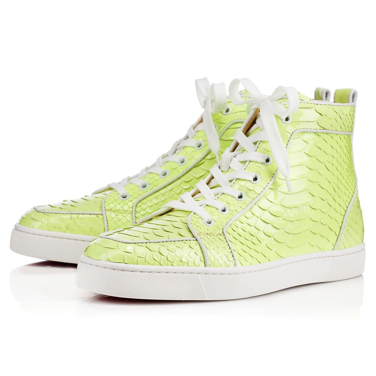 a4b6e2f18c46 CHRISTIAN LOUBOUTIN Rantus Orlato Men S Flat Neon Python Crystal.   christianlouboutin  shoes