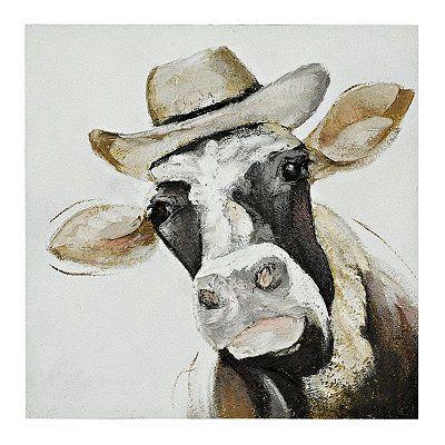 Country Decor Farmhouse Decor Cow Canvas Canvas Art Cow Art