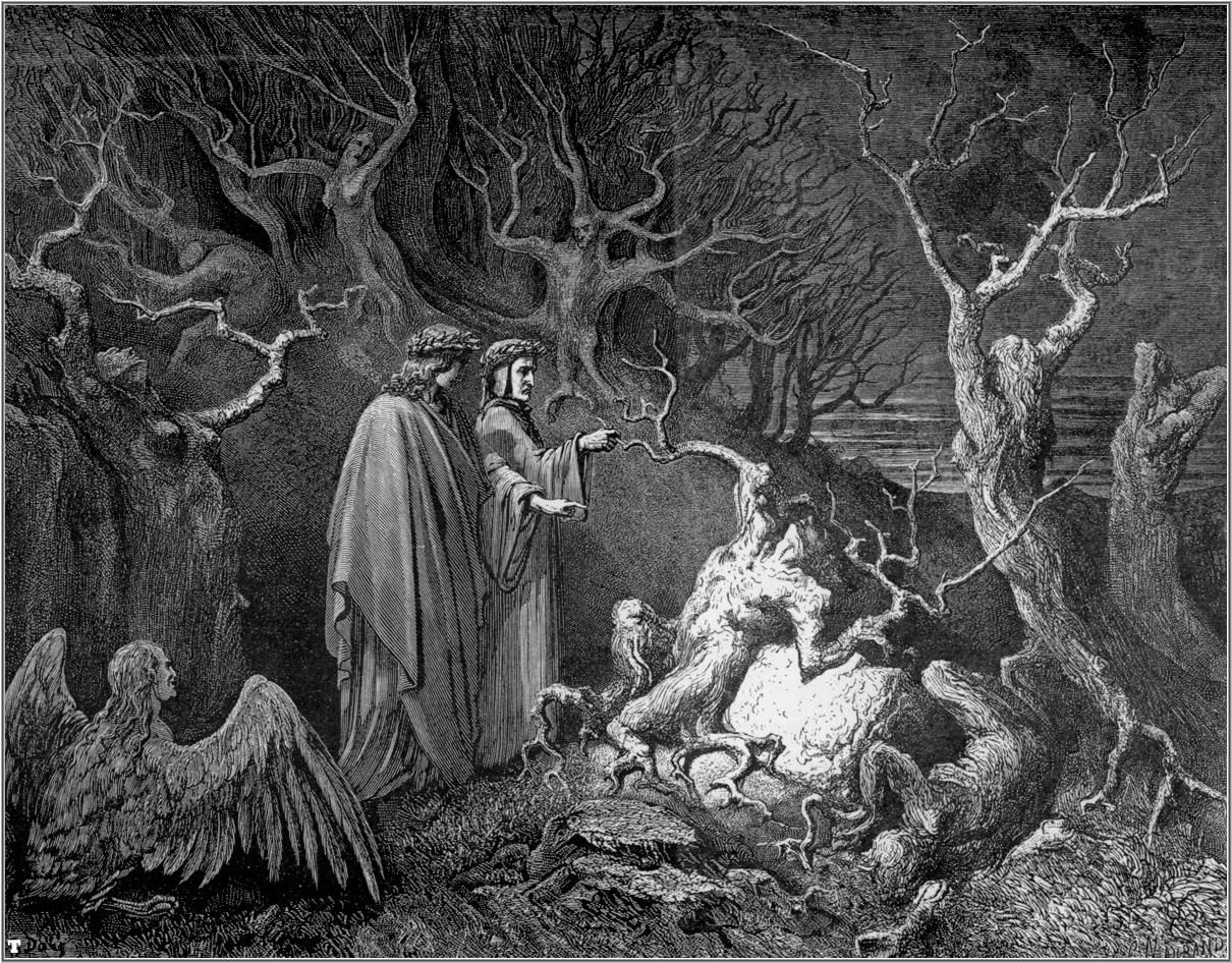 Gustave Doré Illustrations for Dante's Divine Comedy: The Valley of suicides