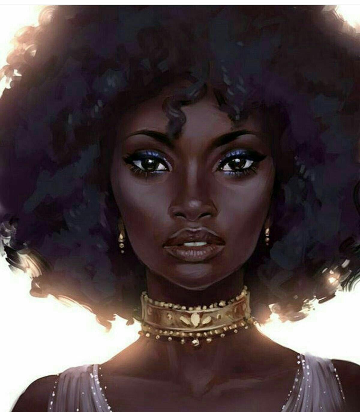 Beautiful Black Art Women Girl