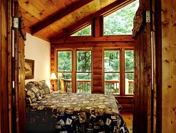 Bedroom View Of Grandview Lodge Rented By Wilderness View Cabins