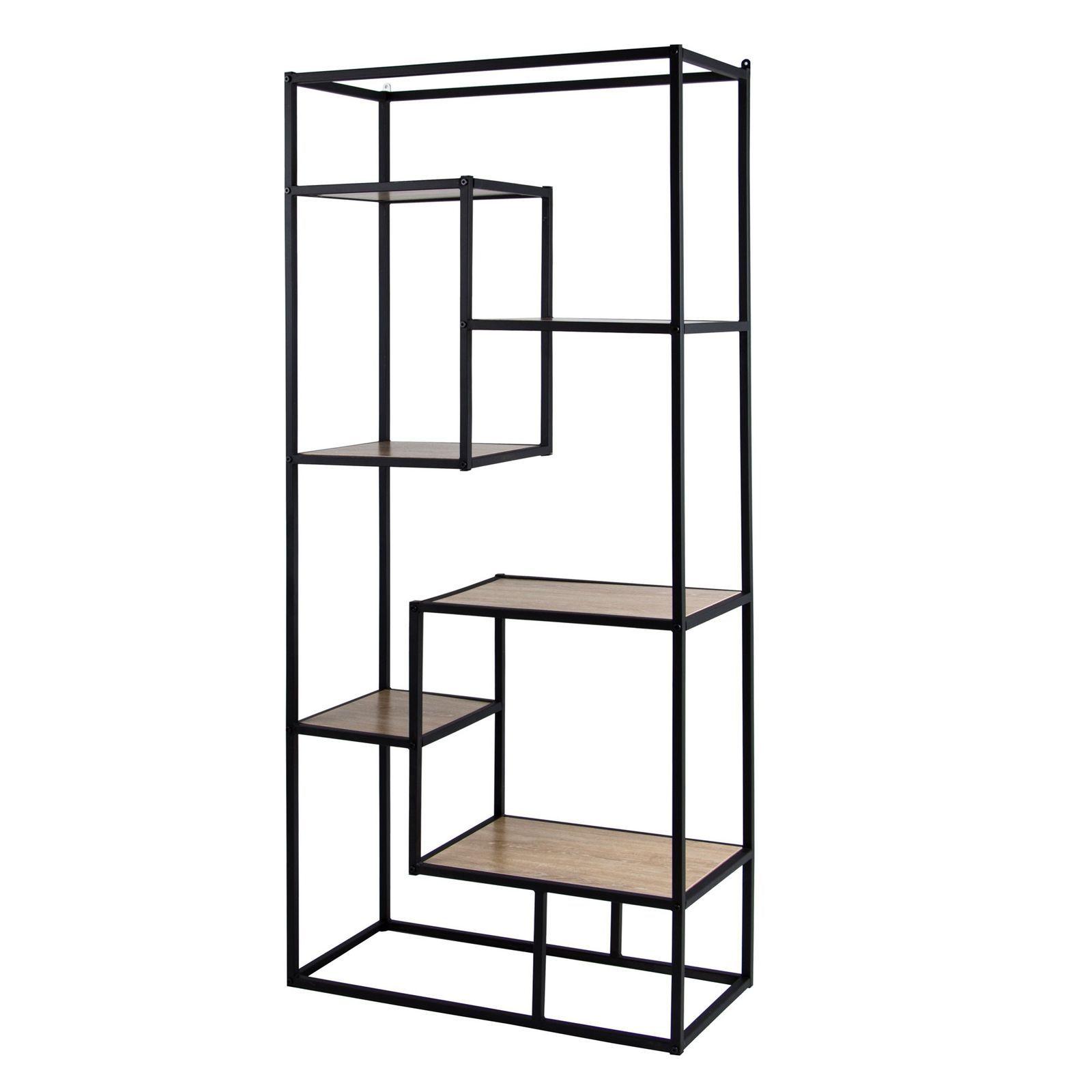 Regal Industrial 6 Ablageboden Eiche Sonoma Schwarz Metall Modern Fach Stil Top 5903068213618 Ebay Shelves Bookcase Home Decor