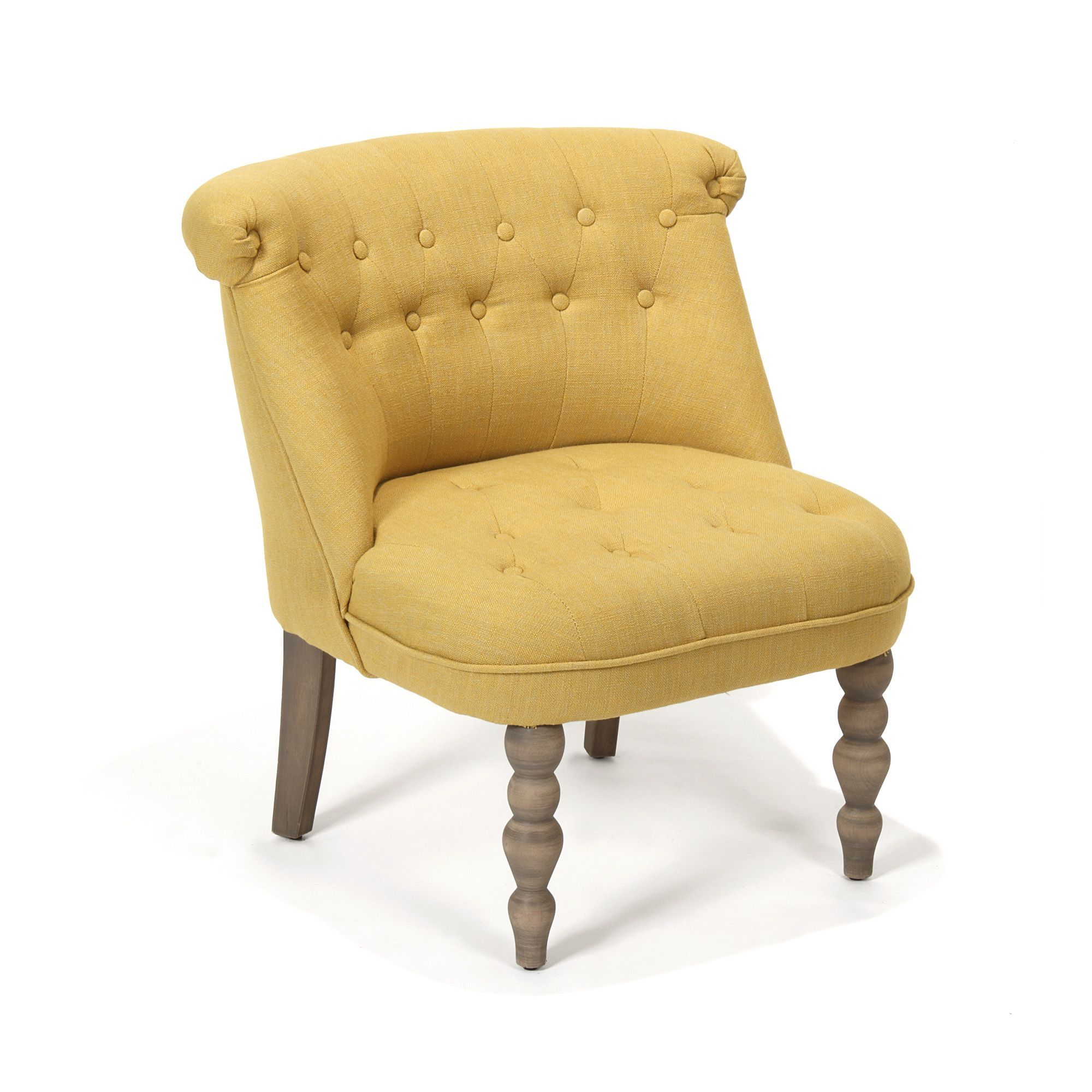 Chanteloup Fauteuil cosy style crapaud jaune | Yellow fashion ...
